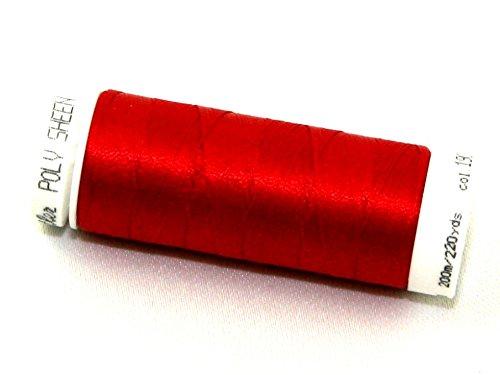 Mettler Polysheen Polyester Machine Embroidery Thread 200m 200m 1903 Lipstick - each