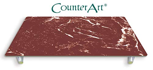 (CounterArt 'Red Marble' Design Tempered Glass Instant Counter)