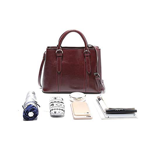 Dimensioni Red Ethba Donna Tracolla Size Da Daypack One Grande Capacità Brown Con colore A Borsa Vintage FwF1nZ7q