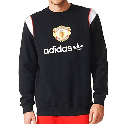 Adidas Mens Manchester United Crewneck Sweatshirt Black L