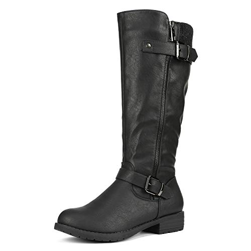 DREAM PAIRS Women's Deer Black Knee High Boots Size 8 B(M) US