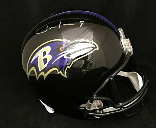 Silver Justin Tucker Autographed Signed Autograph Baltimore Ravens Fs Full Size Helmet JSA Authentic Certificate