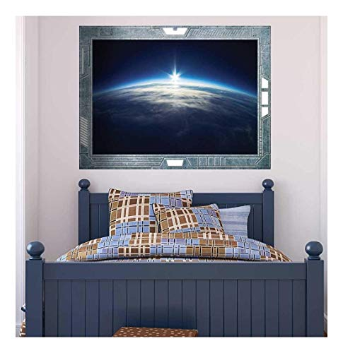 Science Fiction ViewPort Decal The Sun Peeking Over the Edge of Earth Wall Mural
