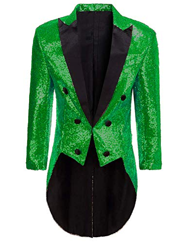 Blazer for Circus Party Women Shiny Sequins Tuxedo Performance Coat for Ice Show -