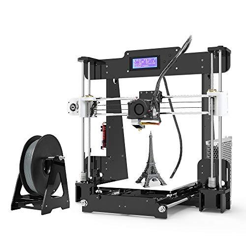Anet A8 3D Printer, Self-Assembly 0.4mm Nozzle Aluminium Alloy Hotbed 2004 LCD Desktop 3D Printer Reprap i3 with Tools…
