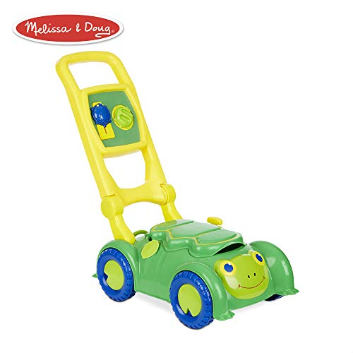 Melissa & Doug Sunny Patch Snappy Turtle Mower (Pretend Play Lawnmower Push Toy) (Lawn Mower For Kids)