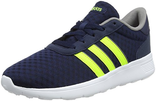 Bleu (Collegiate Navy Solar jaune gris Three 0) 41 1 3 EU adidas Lite Racer, Chaussures de Gymnastique Mixte Adulte