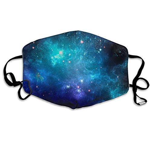 Anti Dust Face Mask Mouth Cover Galaxy Nebula Space, Soft and Washable Safety Mouth Masks with Adjustable Ear Loop Strap, Blocking and Anti Flu Pollution Respirator for Skiing Cycling