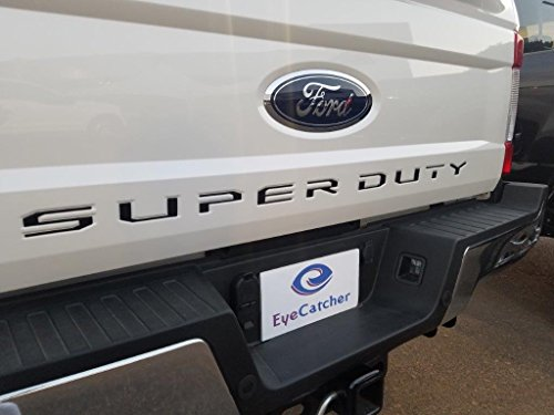 EyeCatcher Tailgate Insert Letters for 2017-2019 Ford Super Duty (Gloss Black)