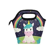 Saobao - Bolsa de almuerzo con diseño de unicornio mágico, ideal para llevar en la escuela, en la oficina, en viajes al aire última intervensión