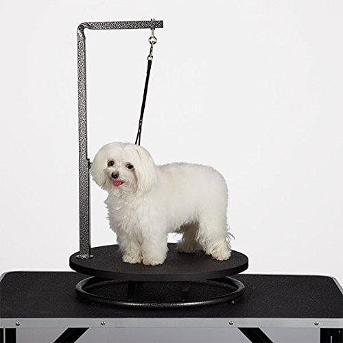 Small Pet Grooming Black Rotating Tabletop with Adjustable Extended Arm and Leash Collar by Groomers Tables (Image #2)