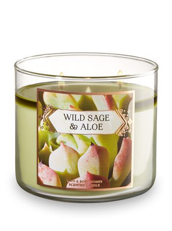 Bath and Body Works Wild Sage and Aloe Scented 3-Wick Candle