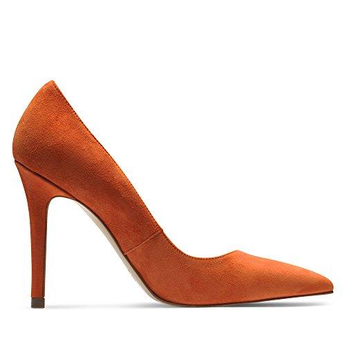 mujer naranja para Shoes Evita de Zapatos Naranja de Piel vestir xHz0qwFH