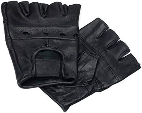 MFH Lederhandschuhe ohne Finger Deluxe Schwarz S-XXL Handschuhe Fingerlos