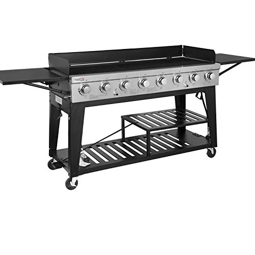 Outdoor Commercial Grill - Royal Gourmet 8-Burner Liquid Propane Event Gas Grill, BBQ, Picnic, or Camping Outdoor, Black