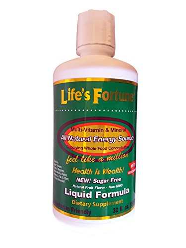 Life's Fortune® Multi-vitamin & Mineral All Natural Energy Source Supplying Whole Food Concentrates -Liquid 32 Fl.oz.
