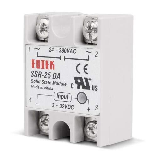 SENRISE rel/è a stato solido modulo rel/è a stato solido monofase SSR-25DA 25A//250V 3-32V DC Input 24-380VAC Out