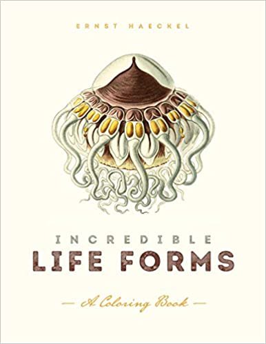 Incredible Life Forms A Coloring Book Ernst Haeckel 9781611250480 Amazon Books