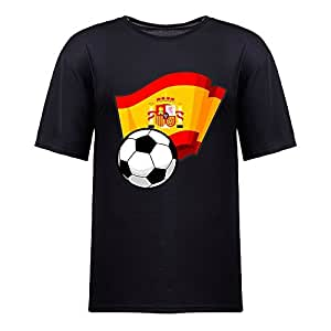 Custom Mens Cotton Short Sleeve Round Neck T-shirt,2014 Brazil FIFA World Cup Soccer Flags black
