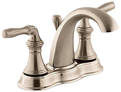 (KOHLER K-393-N4-BV Devonshire Centerset Lavatory Faucet, Vibrant Brushed Bronze)