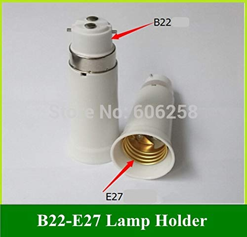 Halica B22 TO E27 lamp Holder Conversion B22 E27 Lamp Base Adapter Extension 95MM 20PCS