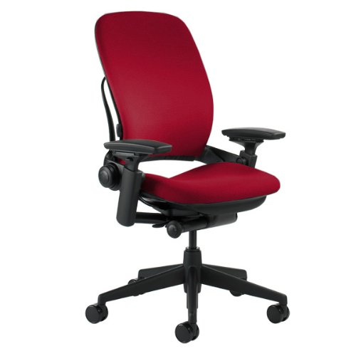 Steelcase Leap Chair, Rouge Fabric (Back Slat 5 Piece)
