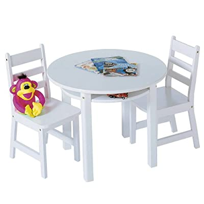 Lipper Childrens Round Table and Chair Set by Lipper International Inc