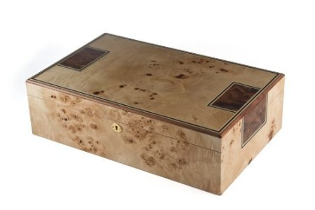 Cheaphumidors Toulouse Humidor with Mapa Burl Finish, 175 Count