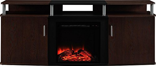 Altra Furniture Carson Fireplace TV Console, 70