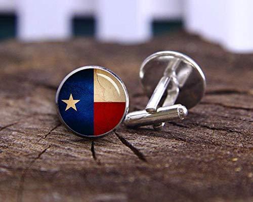 Death Devil Art Picture Cuff Links,Texas State Flag Cufflinks, Vintga Flag of Texas, Personalized Cuff Links, Custom Men Gifts, Groomsman Team, Wedding Jewelry, Groom Cufflink,Gift of Love