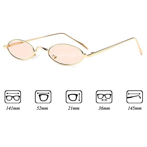 de soleil soleil vintage lunettes rouge lunettes hommes femmes jaune cadre ovales rétro métal petites de pour C8 Mxssi Ztxwg6qSx