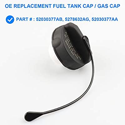 Gas Cap, Fuel Cap Replace 52030377AB, 5278632AG Compatible with Chrysler 300 GT cruiser, Dodge Caliber Challenger Charger Dakota Durango Ram 1500 2500, Jeep Compass Grand Cherokee Patriot, Ram, More: Automotive