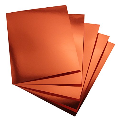 Hygloss Products Metallic Foil Board Sheets - 8.5 x 11 Inches – Red Copper, 25 Pack