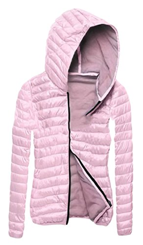 Sleeve EKU Lightweight Pink Jacket Ultralight Women's Long Down Casual qqxr1tFwT