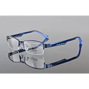 Men TR90 Half rimless sport Glasses Eyeglass Optical Spectacles RX Eyewear Frame