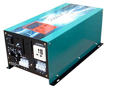 20000W peak 5000W LF Pure Sine Wave Power Inverter DC 12V to AC 110V, with 80A BC / UPS / LCD display ()