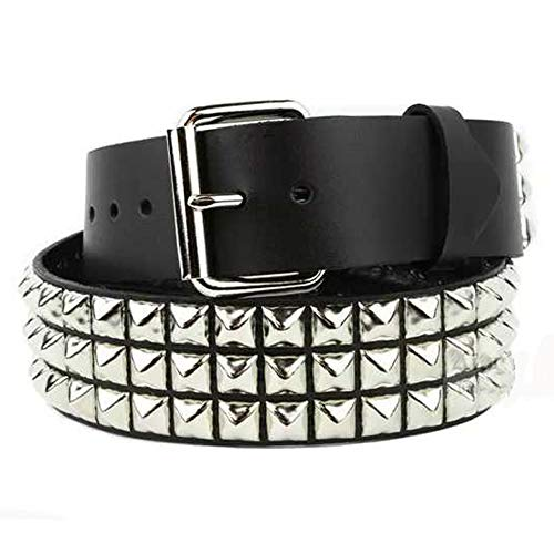 Black Studded Belt- 1 1/4