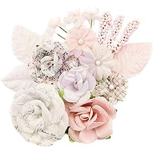 Prima Marketing 635169 Lavender Frost Fabric Flowers 14/Pkg-Fragrant Symphony 8