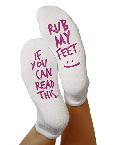 "Kindred Bravely Labor and Delivery Inspirational Fun Non Skid Push Socks for Maternity -""Rub My Feet"" from Kindred Bravely"