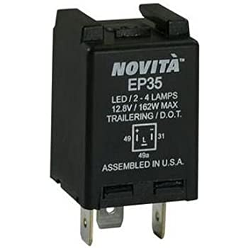 amazon com tridon el13a2 electronic flasher automotive rh amazon com 2 Prong Flasher Wiring-Diagram Alternating Flasher Wiring-Diagram