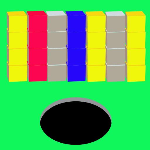 Black Hole - Color Cube Block for Amazon -