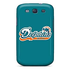 PhilHolmes Samsung Galaxy S3 Shock Absorption Cell-phone Hard Cover Support Personal Customs Fashion Miami Dolphins Series [Cbg16565LdlS]