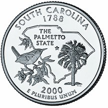 2000 D South Carolina Quarter Choice Uncirculated