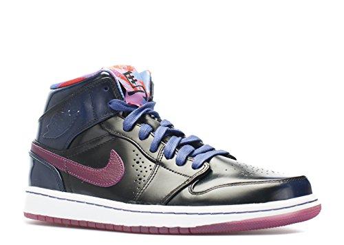 Nike Air Jordan 1 Mid Nouveau Yoth Hombres Hi Top Zapatillas 652484 Zapatillas De Deporte Zapatos Dp Royal Blue, Rd Vlt-blk-wht
