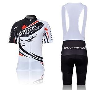 4d39182b9 Monton Speed Kueens Women s Outdoor Short-sleeved Strap Cycling Cycling  Sports Jersey Strap Set (