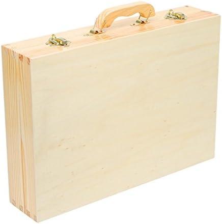 2241 Valigia attrezzi Deluxe small foot in legno, con accessori, come martello, sega, pialla ecc., 48 pz., a partire da 3 anni di età
