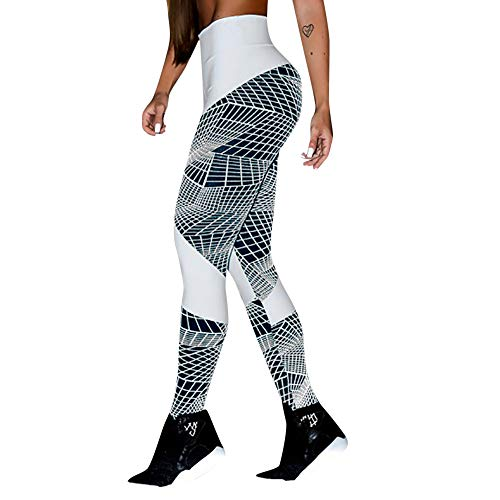 JOFOW Womens Leggings Block Patchwork Geometric Line for sale  Delivered anywhere in USA