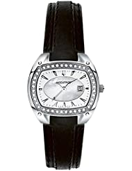 Accutron Womens 26R30 Winter Park Diamond Leather Watch