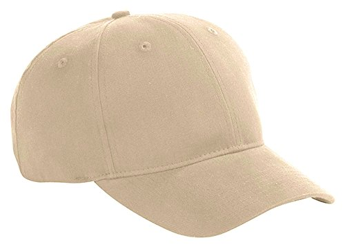 Big Accessories Six Panel Brushed Twill Structured Cap, Khaki, One Size -
