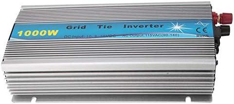 Solar Wechselrichter,Solar Inverter 1000W reiner Sinus Wechselrichter MPPT netzgekoppelter Wechselrichter reiner Sinus GTI-1000W Solarwechselrichter 50Hz / 60Hz (GTI-1000W-18V-220V)